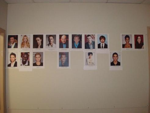 Bryan Singer X Men Days of Future Past Cast Board