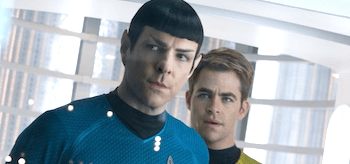 Zachary Quinto Chris Pine Star Trek Into Darkness