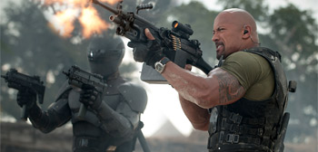 Dwayne Johnson Ray Park GI Joe Retaliation
