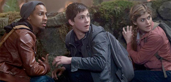 Logan Lerman Brandon T Jackson Alexandra Daddario Percy Jackson Sea of Monsters