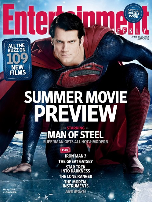 Man of Steel Entertainment Weekly April 2013 Cover