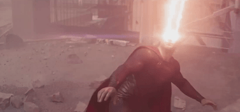 Henry Cavill Eye Lasers Man of Steel