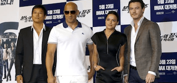 Luke Evans Vin Diesel Sung Kang Michelle Rodriguez Fast and Furious 6