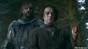 Rory McCann Maisie Williams Game of Thrones Mhysa