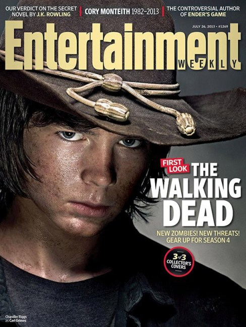 Chandler Riggs The Walking Dead Entertainment Weekly Cover July 26 2013