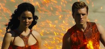 Jennifer Lawrence Josh Hutcherson The Hunger Games Catching Fire