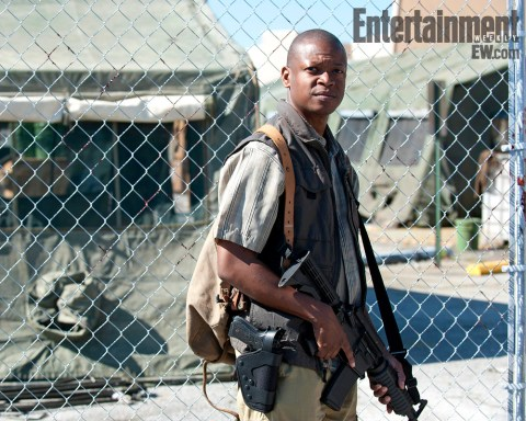Lawrence Gilliard Jr The Walking Dead Entertainment Weekly July 26 2013