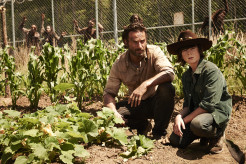 Andrew Lincoln Chandler Riggs The Walking Dead Season 4