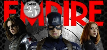Sebastian Stan Chris Evans Scarlett Johansson Empire Magazine Captain America The Winter Soldier cover