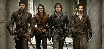 Howard Charles Santiago Cabrera Tom Burke Luke Pasqualino The Musketeers