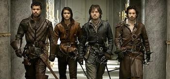 Howard Charles Santiago Cabrera Tom Burke Luke Pasqualino The Musketeers