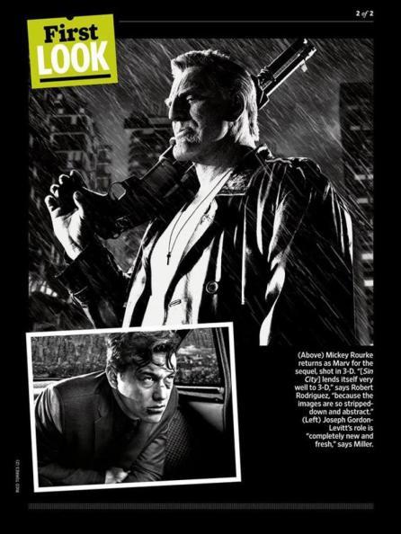 Joseph Gordon-Levitt Mickey Rourke Sin City A Dame to Kill For