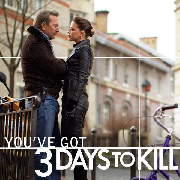 3 days to kill 2014 7 movie posters of amber heard kevin costner filmbook. Black Bedroom Furniture Sets. Home Design Ideas