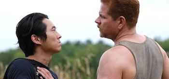 Steven Yeun Michael Cudlitz The Walking Dead Claimed