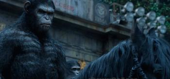 Caesar Horseback Dawn of the Planet of the Apes