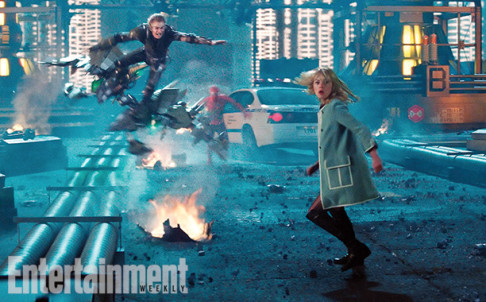 Dane DeHaan Andrew Garfield Emma Stone The Amazing Spider-Man 2