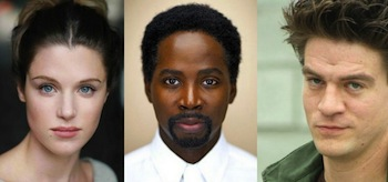 Lucy Griffiths...as Liv, Harold Perrineau...as Manny, and Charles Halford