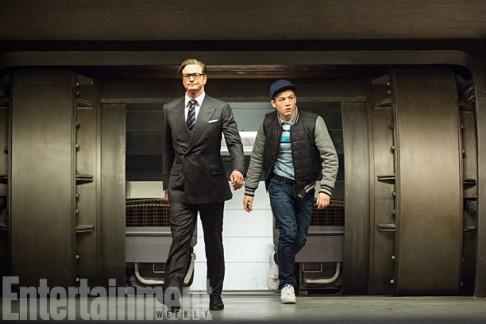 Colin Firth Taron Egerton Kingsman: The Secret Service