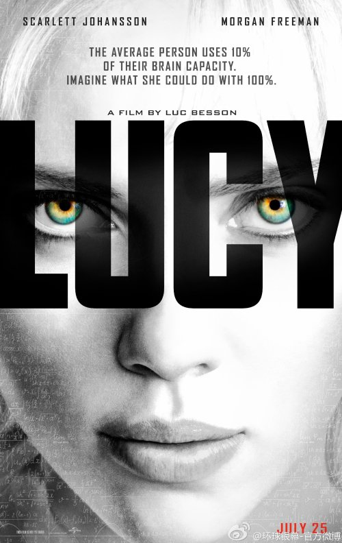 Lucy movie poster
