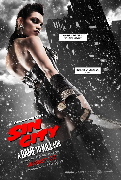Rosario Dawson Sin City A Dame to Kill For Movie Poster