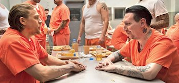 Marilyn Manson Charlie Hunnam Sons of Anarchy Season 7