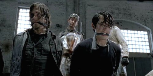 Norman Reedus Steven Yeun The Walking Dead Season 5