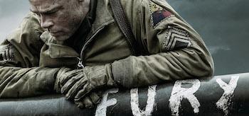 Brad Pitt Fury Movie Poster