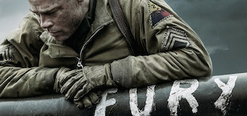 Brad Pitt Fury Movie Poster