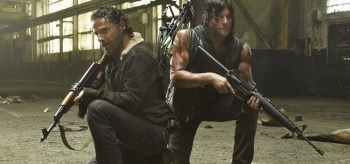 Andrew Lincoln Norman Reedus The Walking Dead season 5 Rick & Daryl