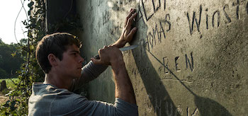 Dylan OBrien Wall of Names The Maze Runner