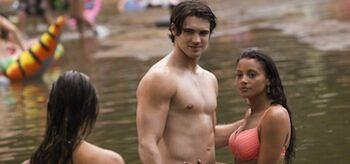 Nina Dobrev Steven Mcqueen Gabrielle Walsh The Vampire Diaries