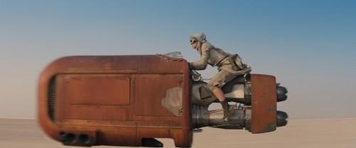 Daisy Ridley Speeder Star Wars The Force Awakens