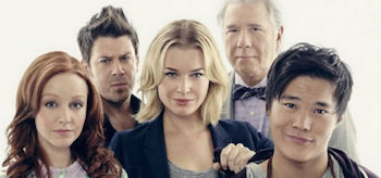 John Larroquette Rebecca Romijn Christian Kane John Kim Lindy Booth The Librarians