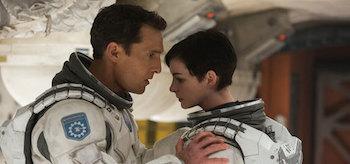 Matthew McConaughey and Anne Hathaway Interstellar