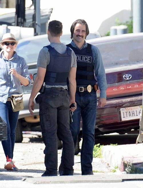 Colin Farrell Taylor Kitsch True Detective Season 2 Set