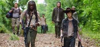 Danai Gurira Chandler Riggs The Walking Dead Them
