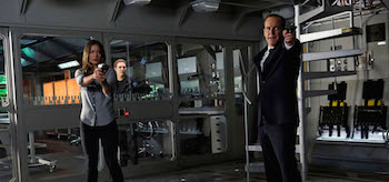 Chloe Bennett Ian de Caestecker cClark Gregg Agents of Shield