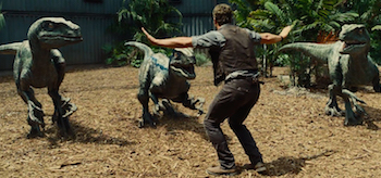 Chris Pratt Velociraptors Jurassic World