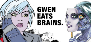 iZombie Gwen Eats Brains