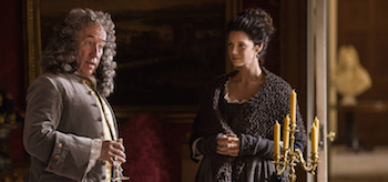 Simon Callow Caitriona Balfe Outlander By the Pricking of My Thumbs