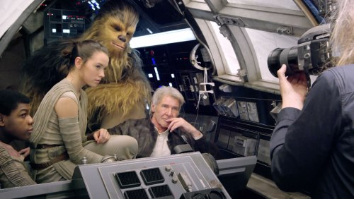 John Boyega Daisy Ridley Harrison Ford Peter Mayhew Star Wars The Force Awakens Vanity Fair June 2015