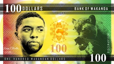 Wakandan paper currency by Darian Robbins