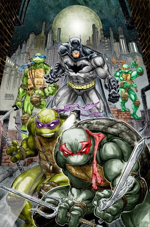 Batman TMNT splash page 1