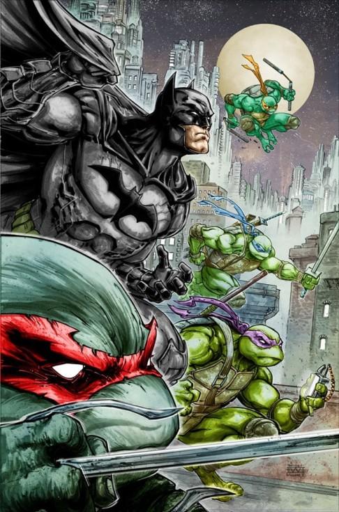Batman TMNT splash page 2