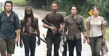 Andrew Lincoln Lauren Cohan Danai Gurira Steven Yeun Josh McDermitt The Walking Dead Season 5