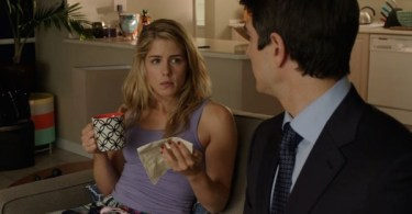 Emily Bett Rickards Brandon Routh Arrow The Secret Origin of Felicity Smoak