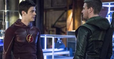 Grant Gustin Stephen Amell Arrow The Brave and the Bold