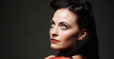 Lara Pulver Red Dress