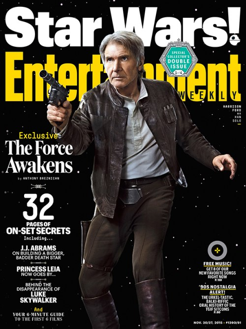 Harrison Ford Star Wars The Force Awakens Entertainment Weekly cover November 2015