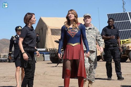 Jenna Dewan-Tatum Chyler Leigh Melissa Benoist Glenn Moreshower David Harewood Supergirl Red Faced